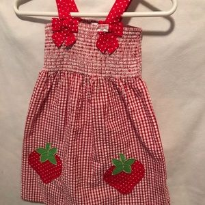 Emily Rose Red Strawberry Dress